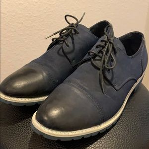 KENNETH COLE DUEL TIME BLUE SUEDE SHOES 10.5